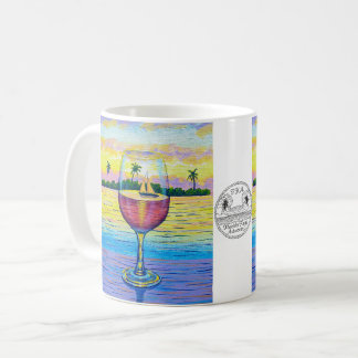 Coffee Mug, Wine Glass at Sunset Coffee Mug
