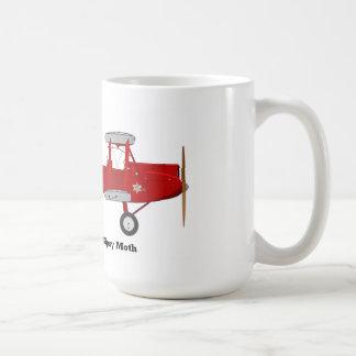 Coffee mug with a biplane on it