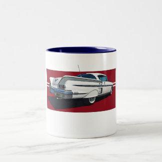 Coffee mug with art of 1958 Chevy Impala