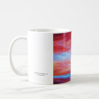 Coffee mug with beach sunset
