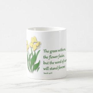 Coffee Mug with Christian Design - Isaiah 40:8