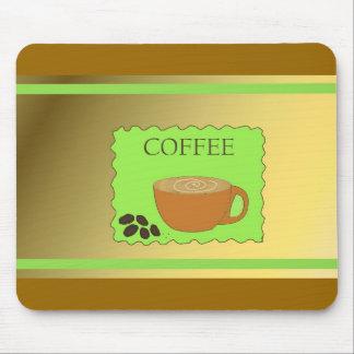 Coffee Mug with Coffee Beans Mouse Pad