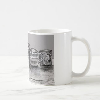 Coffee Mug with Coffee Cup Art