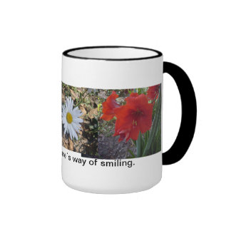 Coffee mug with expression of hope and beauty