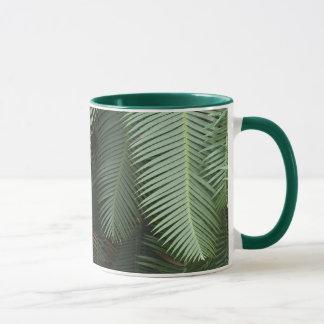 Coffee Mug with Fern Motif