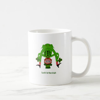 Coffee Mug with Funny Leprechaun