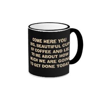 Coffee Mug with Funny Saying About Coffee