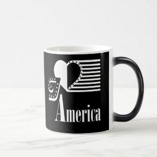 Coffee mug with, I love America design