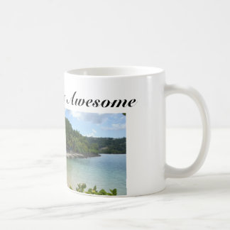 Coffee Mug with Jamaica Beach and Quote