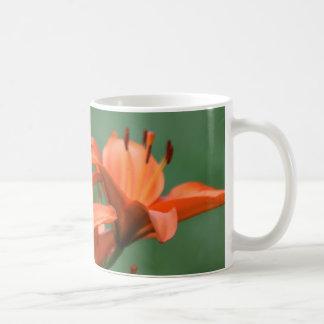 coffee mug with orange lilies