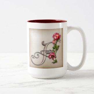 Coffee Mug with Ornate Initial A