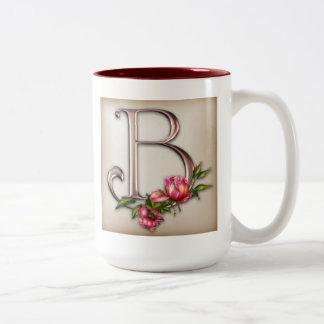 Coffee Mug with Ornate Initial B