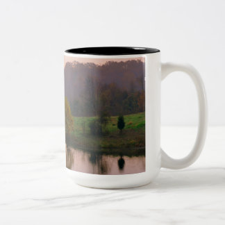 Coffee mug with parkland scenic photograph
