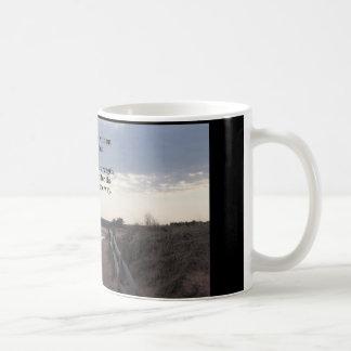 coffee mug with path to lake...promises