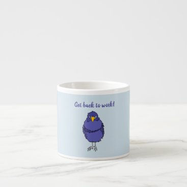 Coffee mug with picture of not so happy bird