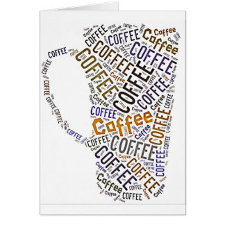 Coffee Mug Word Art Card