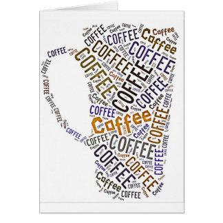Coffee Mug Word Art Card