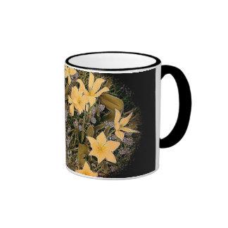 Coffee Mug - Yellow Flower Vignette