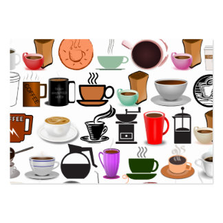Coffee Mugs (Add Background Color) Large Business Card
