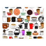 Coffee Mugs (Add Background Color) Postcard