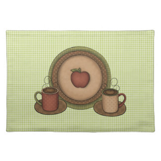 Coffee Mugs and Plate Placemat