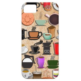 Coffee Mugs on Cream iPhone 5 Case