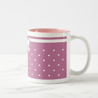 Coffee Mugs with Valentine's Day Hearts