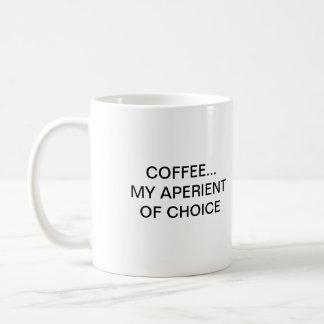 COFFEE... MY APERIENT OF CHOICE COFFEE MUG