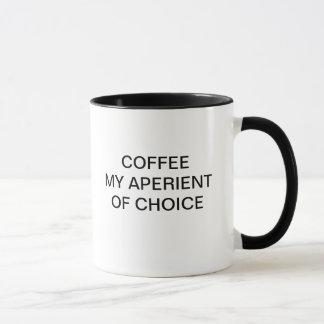 COFFEE MY APERIENT OF CHOICE MUG