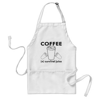 Coffee (n) Survival Juice Adult Apron