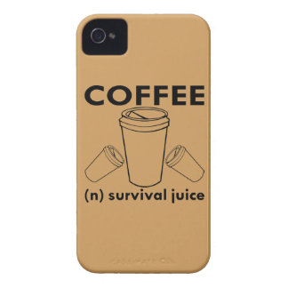 Coffee (n) Survival Juice iPhone 4 Cover