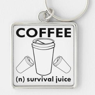 Coffee (n) Survival Juice Keychain