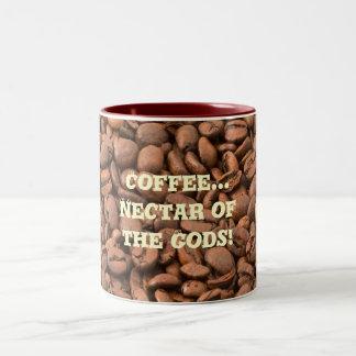 Coffee Nectar of  the Gods! Two-Tone Coffee Mug