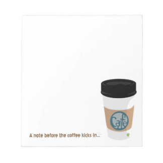 Coffee Notes Notepad (small)