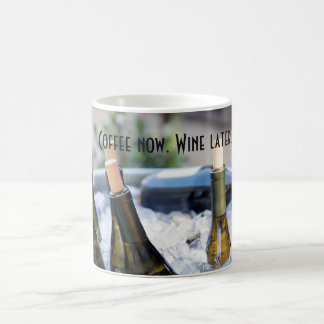 Coffee Now. Wine Later. Funny mug for wine lovers.