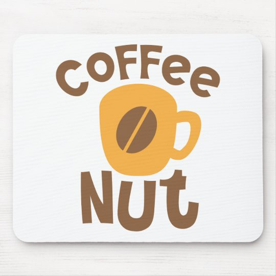 Coffee Nut with cute coffee cup Mouse Pad