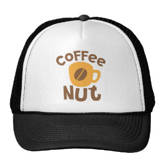 Coffee Nut with cute coffee cup Trucker Hat