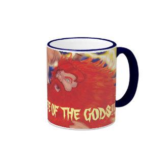 """COFFEE OF THE GODS!!!"" RINGER MUG"