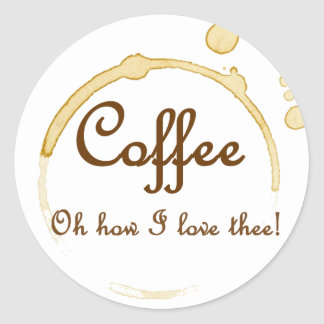 Coffee - Oh How I Love Thee! Sticker