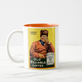 coffee: old reliable Two-Tone coffee mug