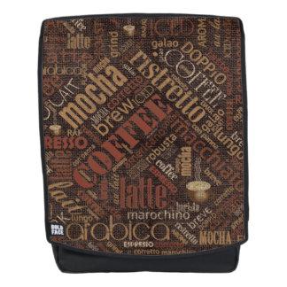 Coffee on Burlap Word Cloud Brown ID283 Backpack