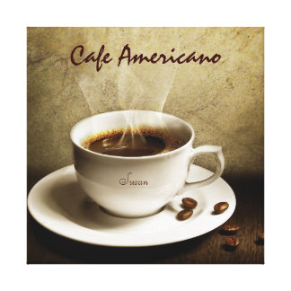 Coffee on Canvas (Customize with your Name)