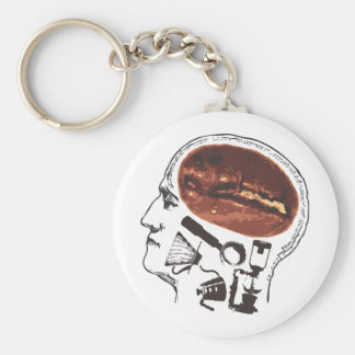 Coffee On the Brain Keychain