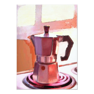 Coffee on the Stove Card