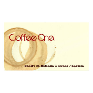Coffee One Barista Business Card