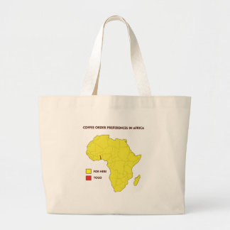 Coffee order preference in Africa Large Tote Bag