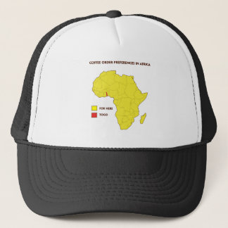 Coffee order preference in Africa Trucker Hat