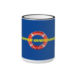 COFFEE OVERBOARD 4 RINGER MUG