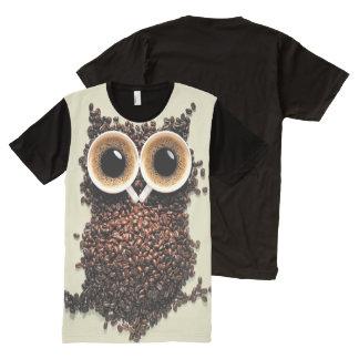 Coffee Owl All-Over-Print Shirt