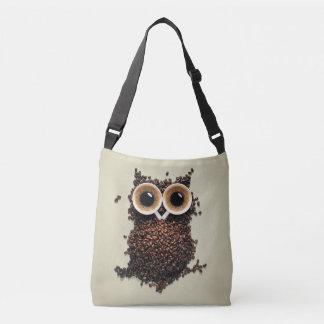 Coffee Owl Crossbody Bag